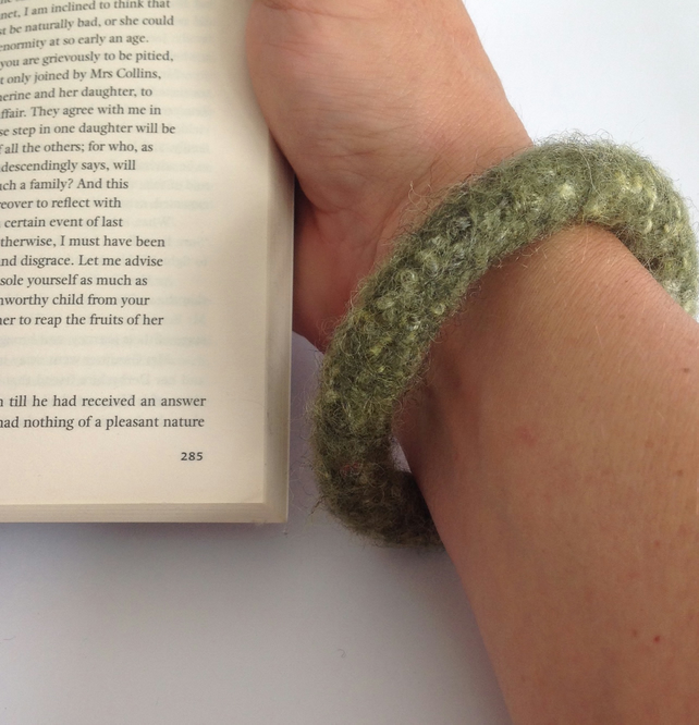 FELTED ( wool , alpaca blend) bracelet , bangle...ready to ship...