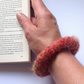FELTED (wool ,alpaca blend) bracelet , bangle ... ready to ship...