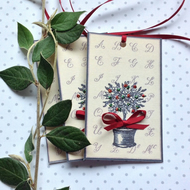 CHRISTMAS GIFT  TAGS  ( set of 3 ) ' Topiary'... ready to ship..
