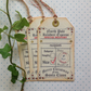 CHRISTMAS GIFT TAGS  ( set of 3) ' Gift  from Santa ' . Vintage -style.