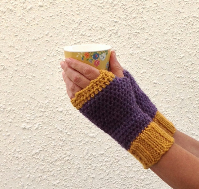 FINGERLESS MITTS. Alpaca and wool blend. Ladies. ' Glow'...ready to ship ...