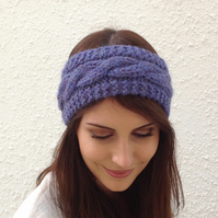 ALPACA blend earwarmers. Headband ' Twilight '. Super soft....ready to ship...