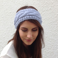 ALPACA blend earwarmers. Headband ' Lakeland Mist '. Super soft..ready to ship..