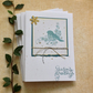 CHRISTMAS CARDS ,(pack of 4 large ) ,  'Sweet Songbird '  ...ready to ship...
