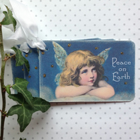 CHRISTMAS GIFT TAGS ( set of 3) ' Angel Child'. Vintage-style..ready to ship..