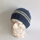 MENS luxury beanie hat . Cashmere, merino blend. ' Even Keel'. .ready to ship...