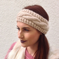 ALPACA blend earwarmers. Headband ' Parchment'. Super soft...ready to ship..