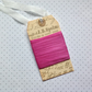 VINTAGE style  ribbon  ( silky seam binding)  ' Candy Pink  ' .4yds  ....