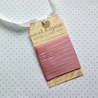 VINTAGE -STYLE ribbon . 4 yds. ( silky, seam binding ). 'Vintage Pink '