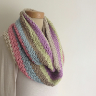 INFINITY SCARF. Super-soft wool blend  'Fairground '... ready to ship...