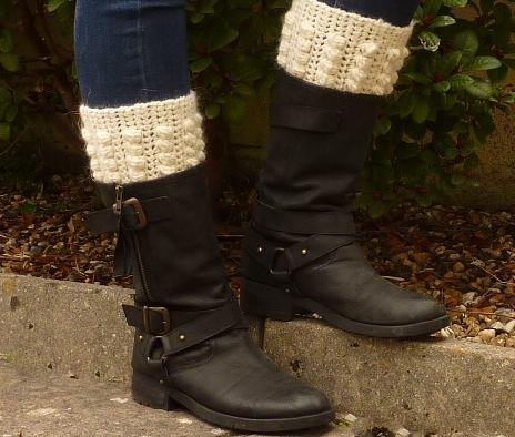 BOOT CUFFS, boot toppers .Alpaca and Wool blend. ' Buttermilk ' ..ready to ship.