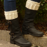 BOOT CUFFS, boot toppers .Alpaca and Wool blend. Various colours.