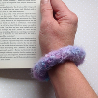 PURE ALPACA  felted bracelet , bangle. Hand-dyed.... ready to ship...