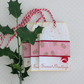 CHRISTMAS GIFT TAGS . Large .( set of 3)  Rustic. Gingerbread Men , Candy Canes