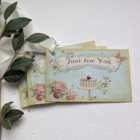 GIFT TAGS. Vintage -style.' Cherry on the Cake '( set of 3) ' .ready to ship...