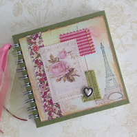 NOTEBOOK, journal, sketchbook , ' A Paris Romance ' ...Ready to ship......