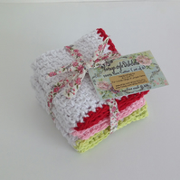 DISHCLOTHS ( pack of 3 ) 100% cotton . Vintage-style...ready to ship...