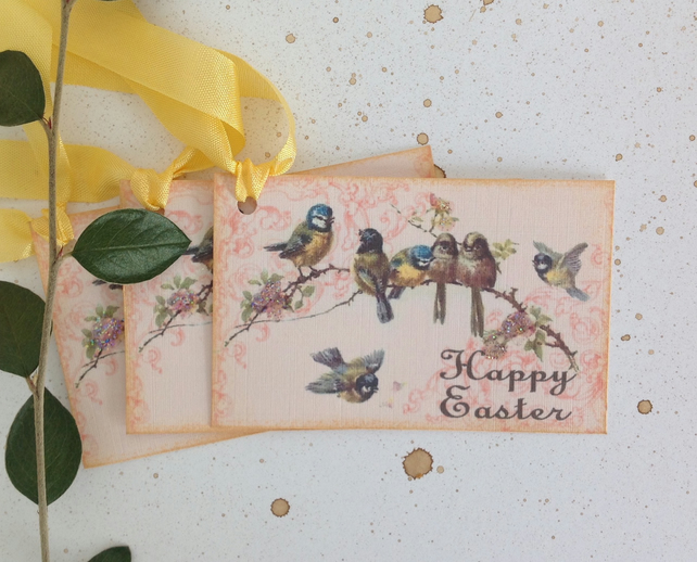 GIFT TAGS . Easter. Vintage-style.  ( set of 3) ' .ready to ship..