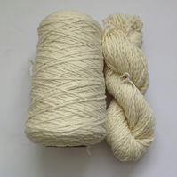 Pure  Merino wool. SH ' Natural '. Cone and skein . Chunky .. 660g total