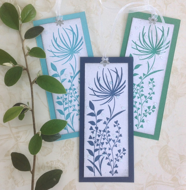GIFT TAGS. Modern. Floral. .' Morning Dew '  ( set of 3)  '..ready to ship...