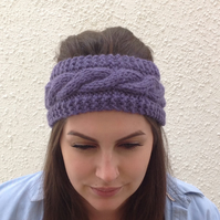 ALPACA blend earwarmers. Headband ' Indigo Night '. Super soft.