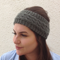 ALPACA blend earwarmers. Headband '  Copse ' .. Super soft....ready to ship..