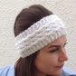 ALPACA blend earwarmers. Headband ' Polar' .. Super soft....ready to ship..