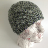 UNISEX regular beanie hat . Pure Shetland  Wool . Knitted.' Highlands' .