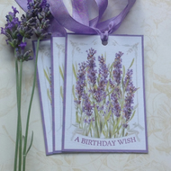 GIFT TAGS ( set of 3) Vintage-style.' Lavender Fields' ...ready to ship...