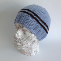 MENS luxury beanie hat . Cashmere, Merino wool blend. ' So Retro '.