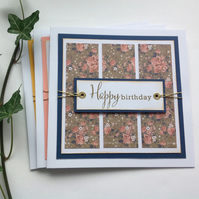 GREETINGS cards  (pack of 3 diff designs  ) . ' Vintage Flora'