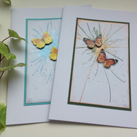 GREETINGS cards , notecards ( pack of 2 ) 'Flight 2' ..ready to ship..
