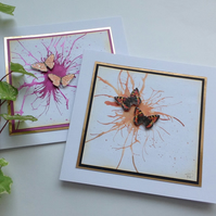 GREETINGS cards  ' Flight' ( pack of 2 )..ready to ship..