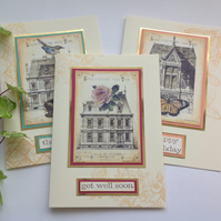 GREETINGS cards  ( 3 diff designs ) 'Architecture' ...ready to ship..