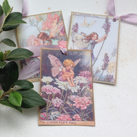 GIFT TAGS Vintage-style. Flower Fairies . ' Summer mix 3' .'