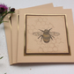 GREETINGS cards, notecards  ( pack of 3). Bee . Honeycomb. Nature. Summer.