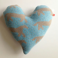 Dala Horse Heart Cushion