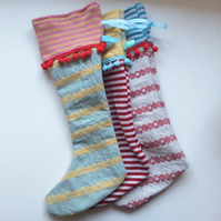 Knitted & Woven christmas stockings decorations