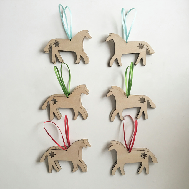 Swedish style wooden Dala Horse