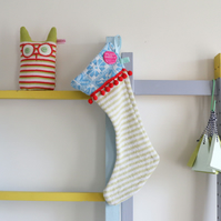 Knitted christmas stocking decorations