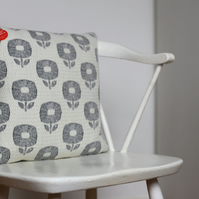 Woven Flora Design Cushion