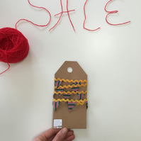 Mini Ric Rac knitted Bunting