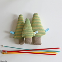 Set of Knitted Lavender Tree's