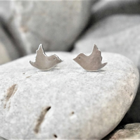 Bird Studs in Sterling Silver