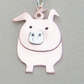 Pig pendant in copper & sterling silver