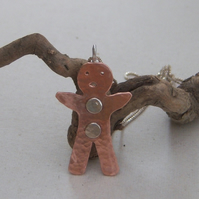 Gingerbread man pendant