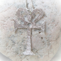 Ankh cross pendant in sterling silver