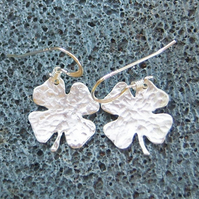 Shamrock earrings in sterling silver