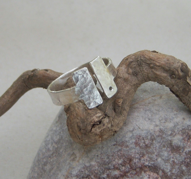 Adjustable ring in sterling silver