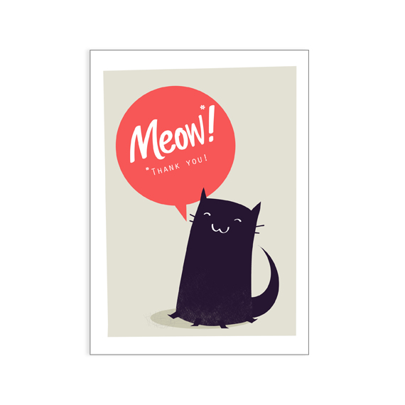 Kitty says 'Thank You!' greeting card